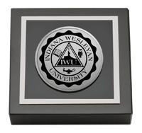 Indiana Wesleyan University  Silver Engraved Medallion Paperweight