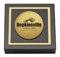 Hopkinsville Community College at Kentucky Gold Engraved Medallion Paperweight