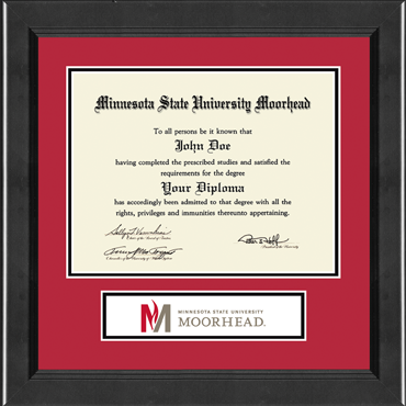Minnesota State University Moorhead Lasting Memories Banner Diploma Frame in Arena