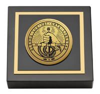 Davidson College Gold Engraved Medallion Paperweight