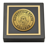 Gainesville State College Gold Engraved Medallion Paperweight