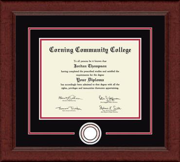 Lasting Memories Circle Logo Diploma Frame in Sierra