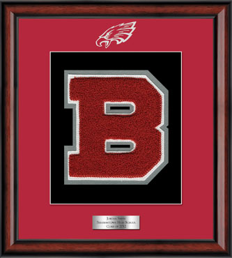 Beekmantown High School in New York Varsity Letter Frame in Southport