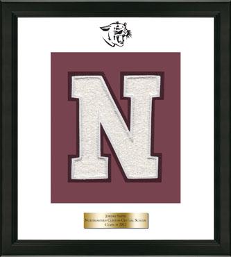 Varsity Letter Frame in Omega