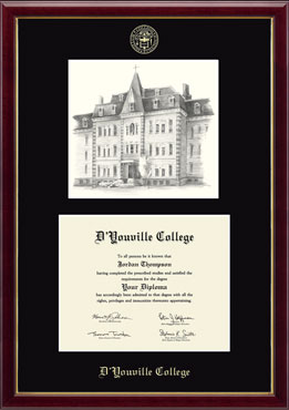 Campus Scene Overly Edition Diploma Frame in Galleria