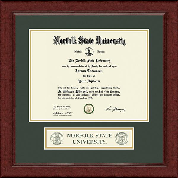 Lasting Memories Banner Seal Diploma Frame in Sierra