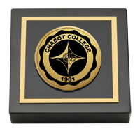 Chabot College Gold Engraved Medallion Paperweight