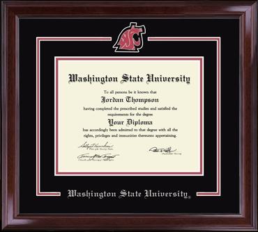 Washington State University Diploma Frames Church Hill Classics
