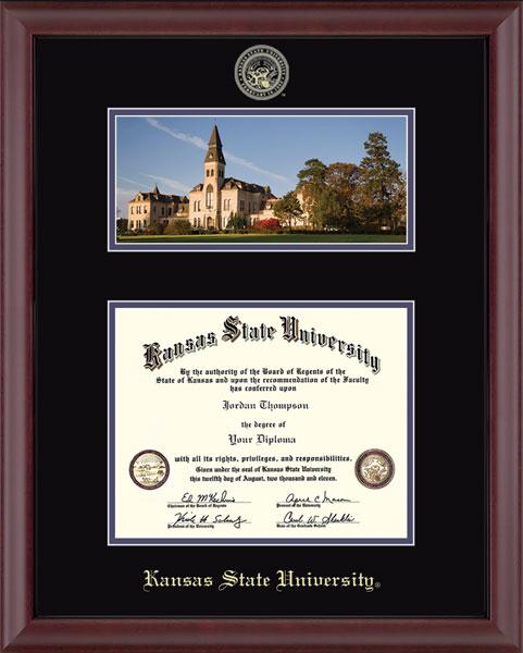 Kansas State University Campus Scene Edition Diploma Frame in Cambridge