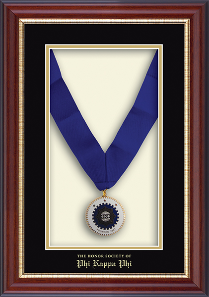 Commemorative Medal Shadow Box Frame in Newport