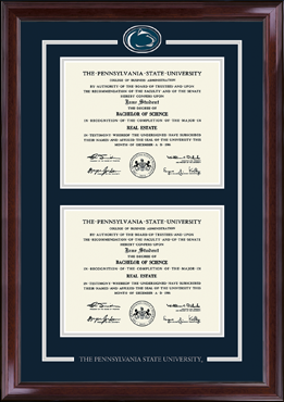 Spirit Medallion Double Diploma Frame in Encore