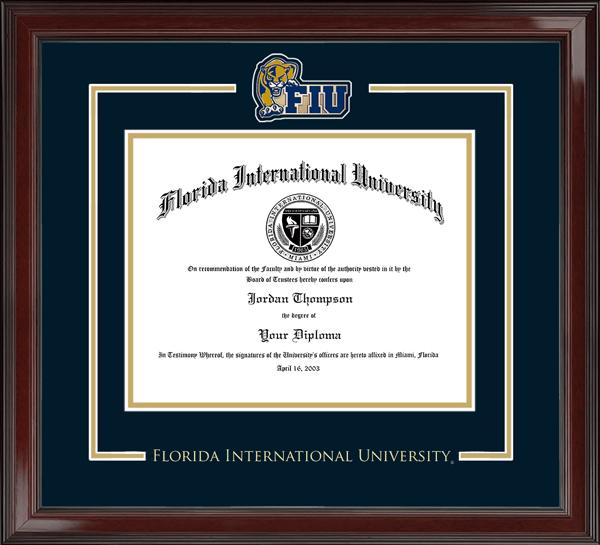 Spirit Panther Medallion Diploma Frame in Encore
