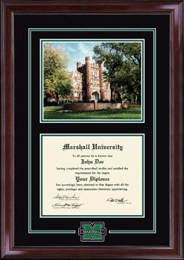 Campus Scene Edition Diploma Frame in Encore