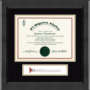 Lasting Memories Banner Certificate Frame in Arena