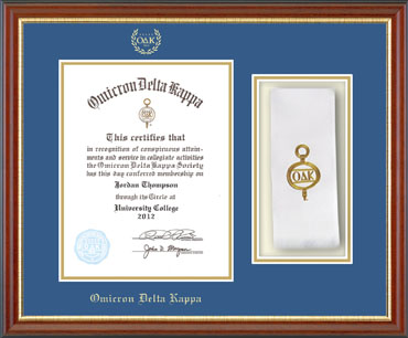 Stole Certificate Frame in Newport