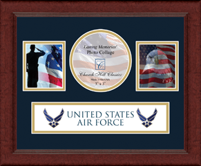 United States Air Force Lasting Memories Banner Collage Photo Frame in Sierra