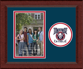 "4""x6"" - Lasting Memories Circle Logo Photo Frame in Sierra"