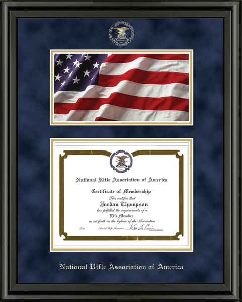 Flag Edition Certificate Frame in Midnight