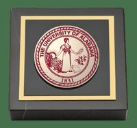 Crimson Masterpiece Medallion Paperweight