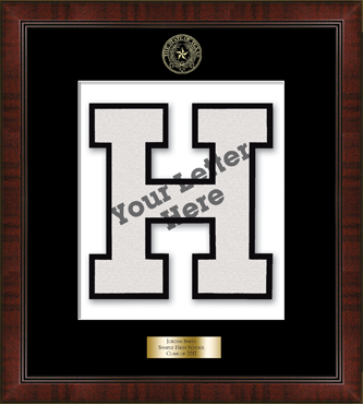 Varsity Letter Personalized Frame in Delta