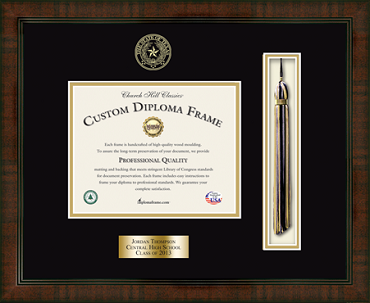 Tassel Edition Personalized Diploma Frame in Delta