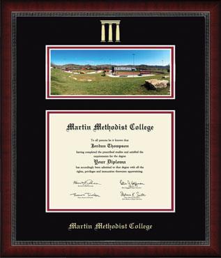 Campus Scene Diploma Frame in Sutton