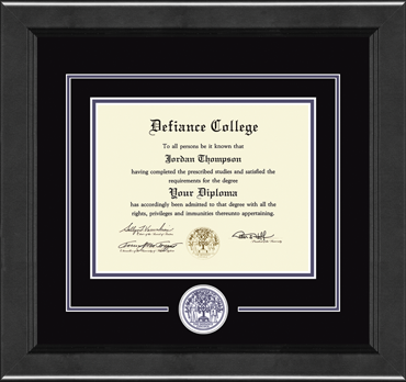 Lasting Memories Circle Seal Diploma Frame in Arena