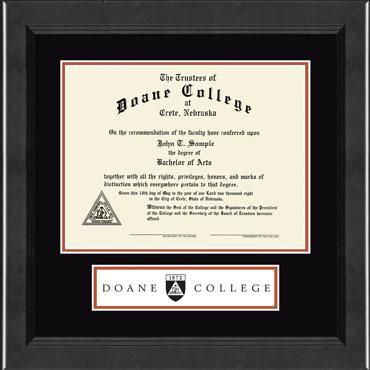 Doane College Lasting Memories Banner Diploma Frame in Arena