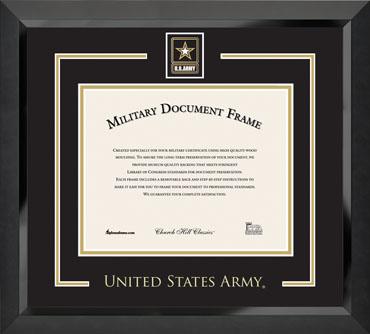 Spirit Medallion Certificate Frame in Eclipse