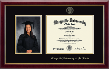 Gold Embossed Photo and Diploma Frame in Gallery