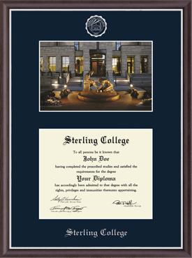 Campus Scene Diploma Frame in Devon