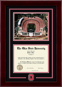 Spirit Medallion Stadium Scene Diploma Frame in Cordova