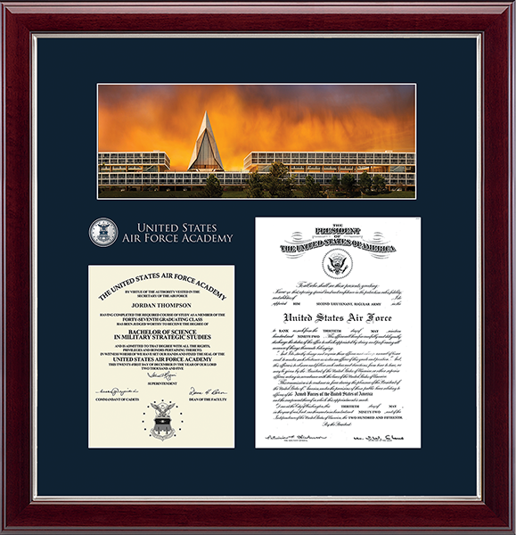 Masterpiece Campus Scene Edition Document Frame in Gallery Silver
