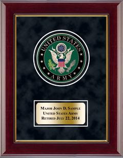 U.S. Army Masterpiece Medallion Award Frame in Gallery