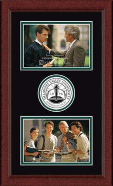 Lasting Memories Double Circle Logo Photo Frame in Sierra