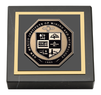 New Mexico Institute of Mining & Technology Masterpiece Medallion Paperweight