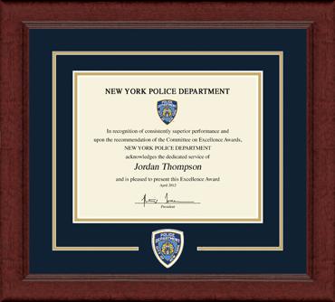 Lasting Memories Logo Certificate Frame in Sierra