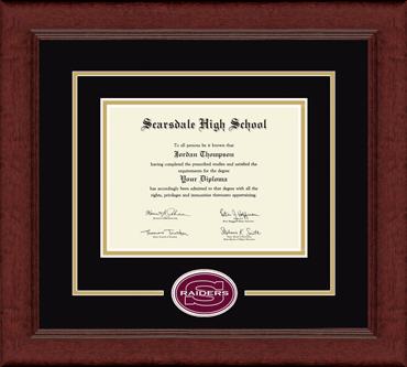 Lasting Memories Raiders Logo Diploma Frame in Sierra