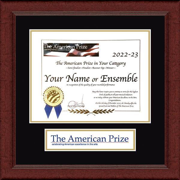 Lasting Memories Banner Certificate Frame in Sierra