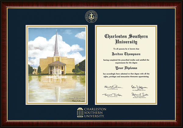 Campus Scene Overly Edition Diploma Frame in Murano