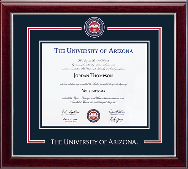 Showcase Edition Diploma Frame in Gallery Silver