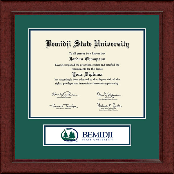 Bemidji State University  Lasting Memories Banner Diploma Frame in Sierra