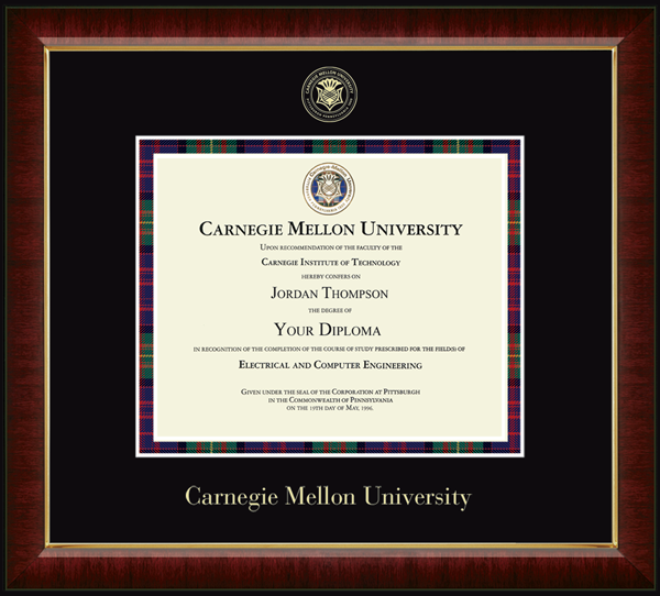 Tartan Plaid Gold Embossed Diploma Frame in Murano