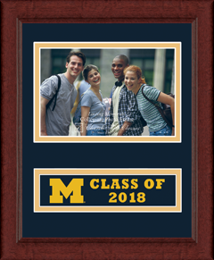 Lasting Memories Class of 2018 Banner Photo Frame in Sierra