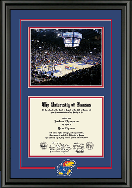 Stadium Jayhawk Spirit Medallion Diploma Frame in Midnight