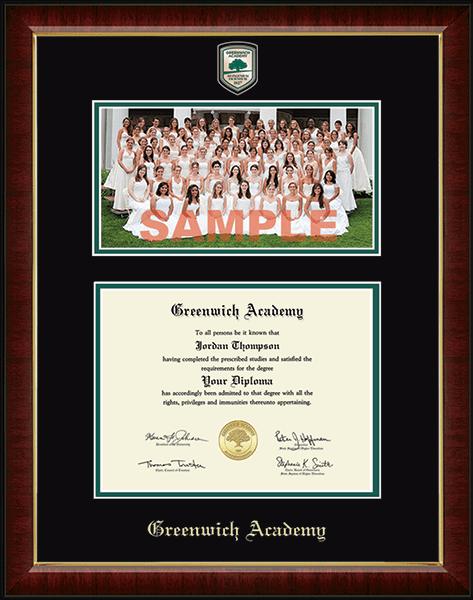 Campus Scene Masterpiece Diploma Frame in Murano