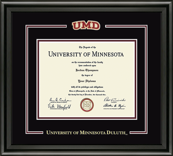 Spirit Medallion Diploma Frame in Midnight