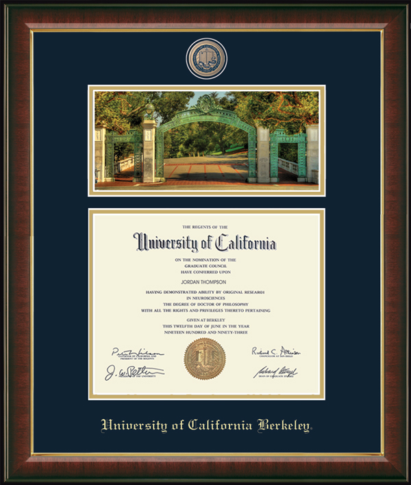 Campus Scene Edition Masterpiece Diploma Frame in Murano