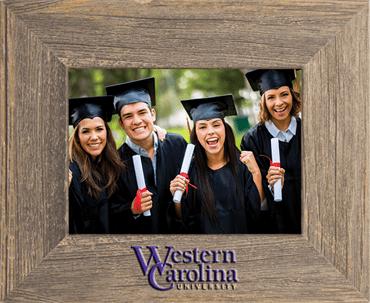 Western Carolina University Spectrum Photo Frame in Barnwood Gray