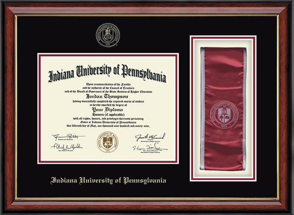 Commemorative Sash Diploma Frame in Southport Gold